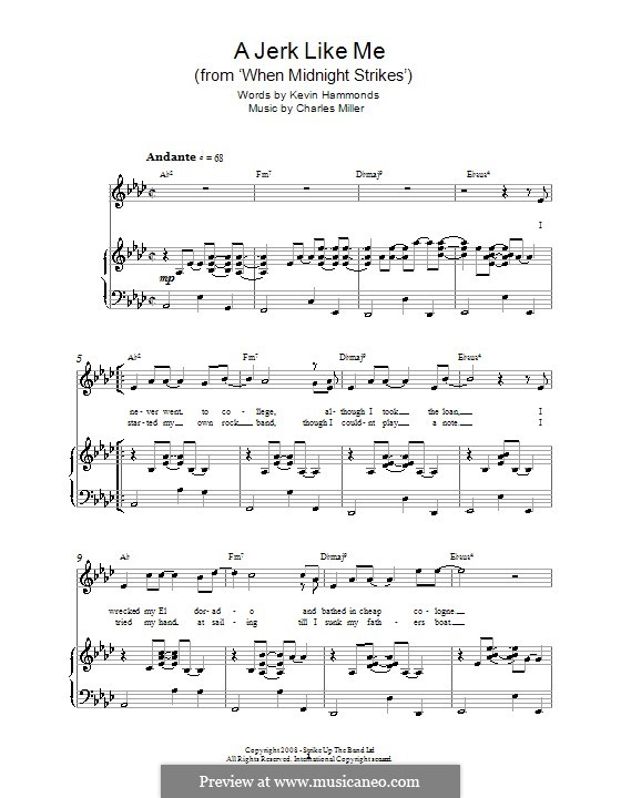 A Jerk Like Me (from When Midnight Strikes): For voice and piano (or guitar) by Charles Miller