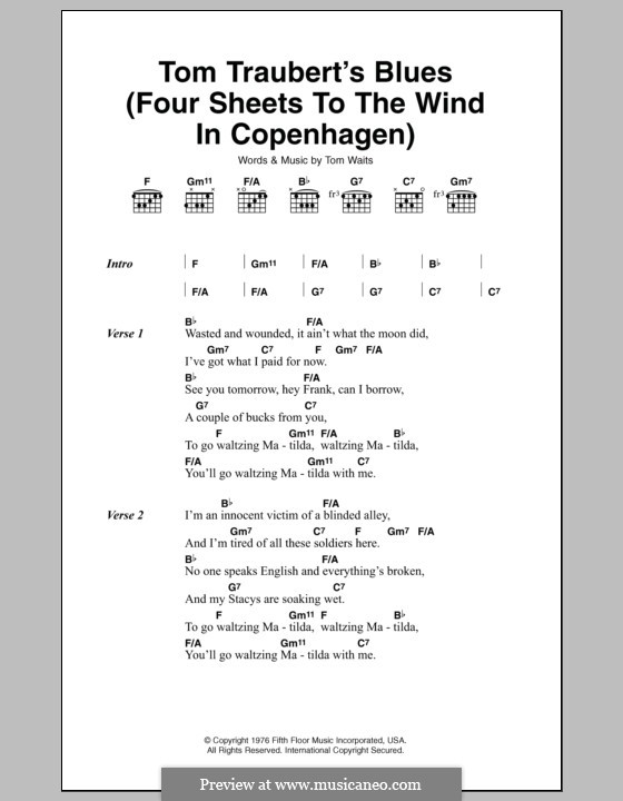 Tom trauberts blues four sheets to the wind in copenhagen by t tom trauberts blues four sheets to the wind in copenhagen lyrics and chords stopboris Gallery