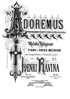Adoremus. Mélodie Religieuse, Op.72, 72 b: For Piano by Jean-Henri Ravina