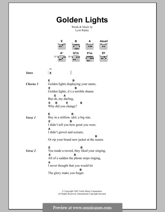 Golden Lights (The Smiths): Lyrics and chords by Lynn Ripley