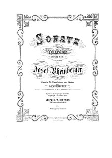 Sonata for Organ No.6, Op.119: Sonata for Organ No.6 by Josef Gabriel Rheinberger