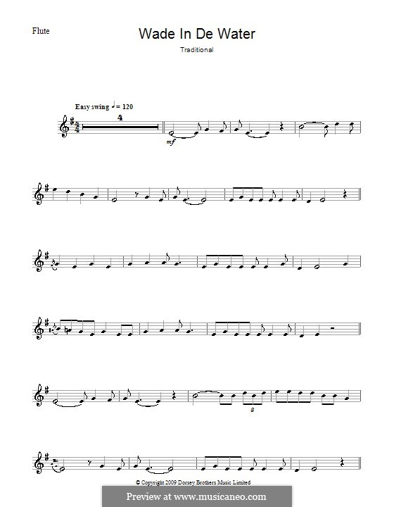 Wade in the Water: For flute by folklore