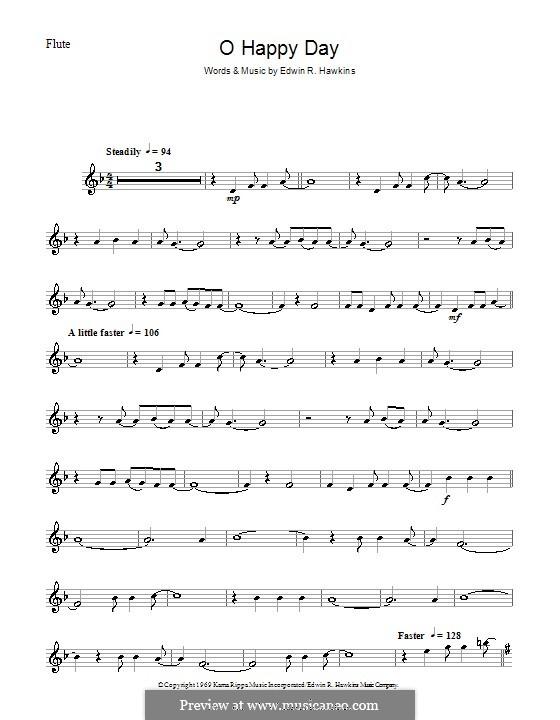 Oh Happy Day (The Edwin Hawkins Singers): For flute by Edwin R. Hawkins