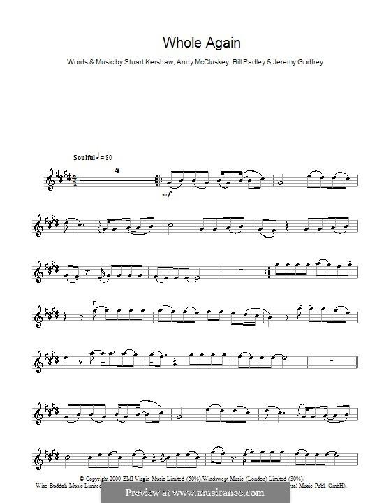 Whole Again (Atomic Kitten): For violin by Andy McCluskey, Bill Padley, Jeremy Godfrey, Stuart Kershaw