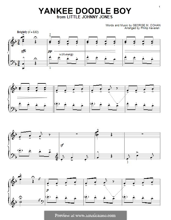 Yankee Doodle Boy: For piano by George Michael Cohan