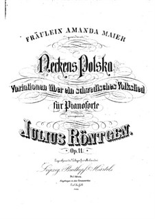 Neckens Polska. Fantasia on a Swedish Folk Song, Op.11: Neckens Polska. Fantasia on a Swedish Folk Song by Julius Röntgen