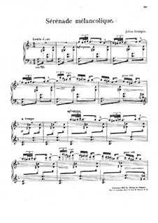 Sérénade mélancolique: Sérénade mélancolique by Julius Röntgen