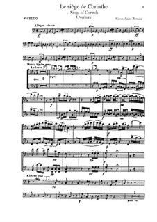 Le siège de Corinthe (The Siege of Corinth): Overture – cellos part by Gioacchino Rossini