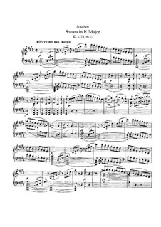 Sonata for Piano No.1 in E Major, D.157: For a single performer by Franz Schubert