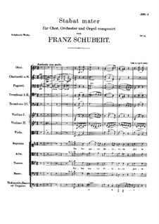 Stabat Mater in G Minor, D.175: Stabat Mater in G Minor by Franz Schubert