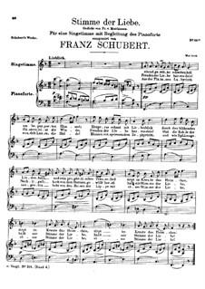 Stimme der Liebe (Voice of Love), D.187: F Major by Franz Schubert