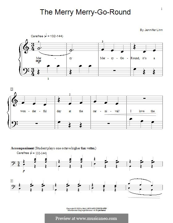 The Merry Merry-Go-Round: For piano by Jennifer Linn