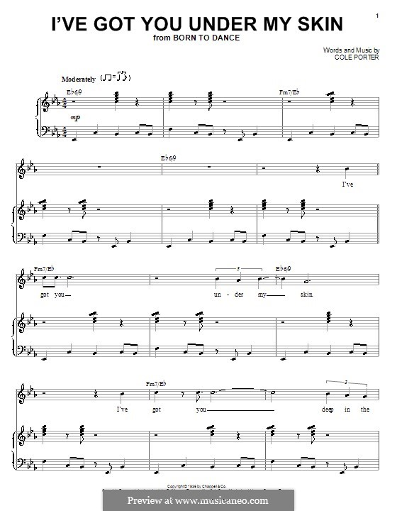 Ive Got You Under My Skin By C Porter Sheet Music On Musicaneo