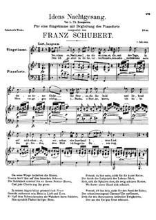 Idens Nachtgesang (Ida's Song to the Night), D.227: B flat Major by Franz Schubert