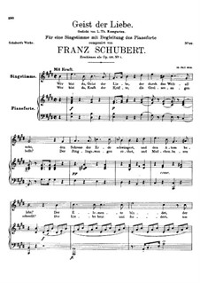 Geist der Liebe (Spirit of Love), D.233 Op.118 No.1: E Major by Franz Schubert