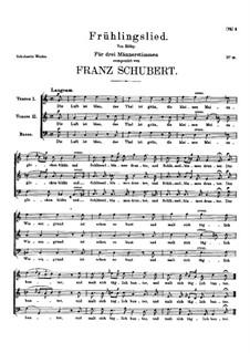 Frühlingslied (Spring Song), D.243: Frühlingslied (Spring Song) by Franz Schubert