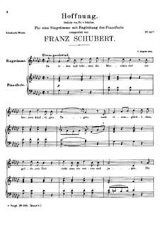 Hoffnung (Hope), D.251: G flat Major by Franz Schubert
