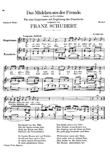 Das Mädchen aus der Fremde (The Maiden from a Strange Land), D.252: F Major by Franz Schubert