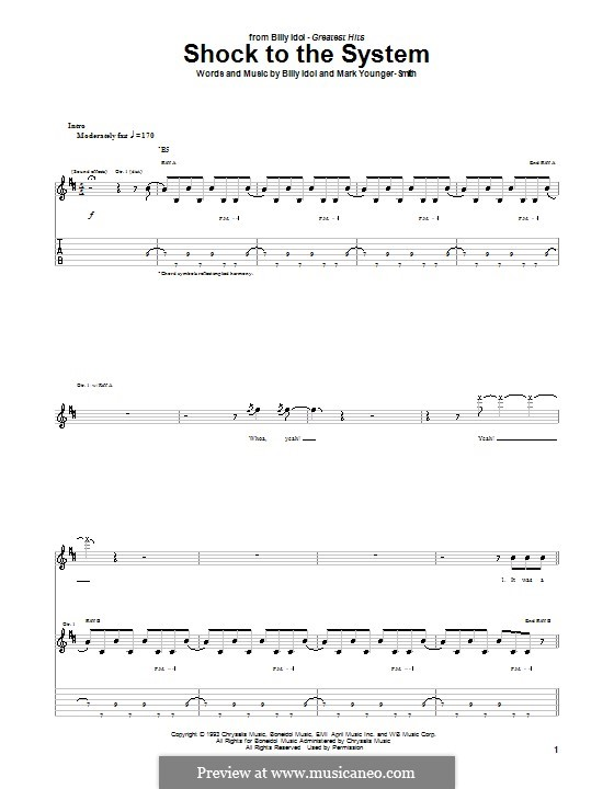Shock to the System: For guitar with tab by Mark Younger-Smith