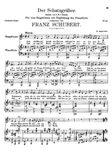 Der Schatzgräber (The Treasure-Seeker), D.256: D minor by Franz Schubert