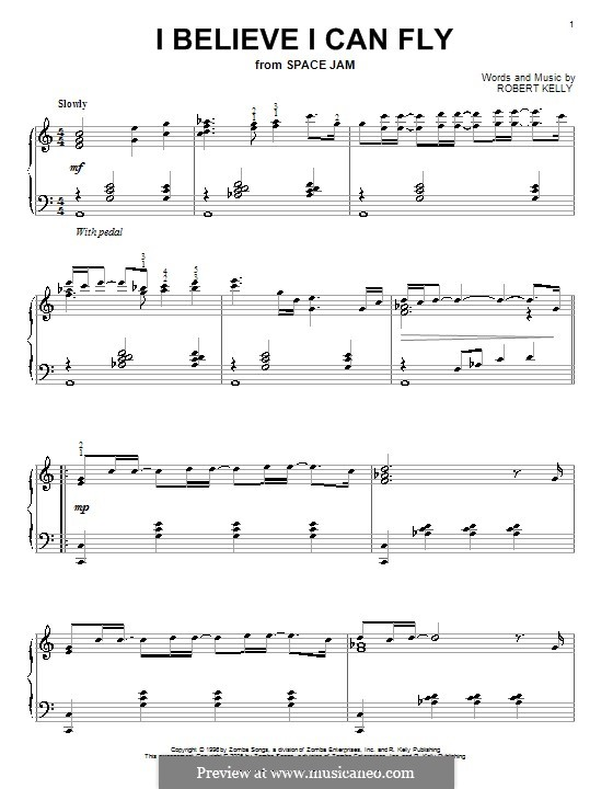 I Believe I Can Fly: For piano by Robert Kelly