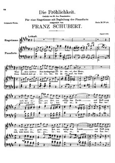 Die Fröhlichkeit, D.262: E Major by Franz Schubert