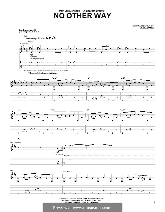 No Other Way by J. Johnson - sheet music on MusicaNeo