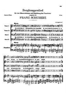 Bergknappenlied, D.268: Bergknappenlied by Franz Schubert