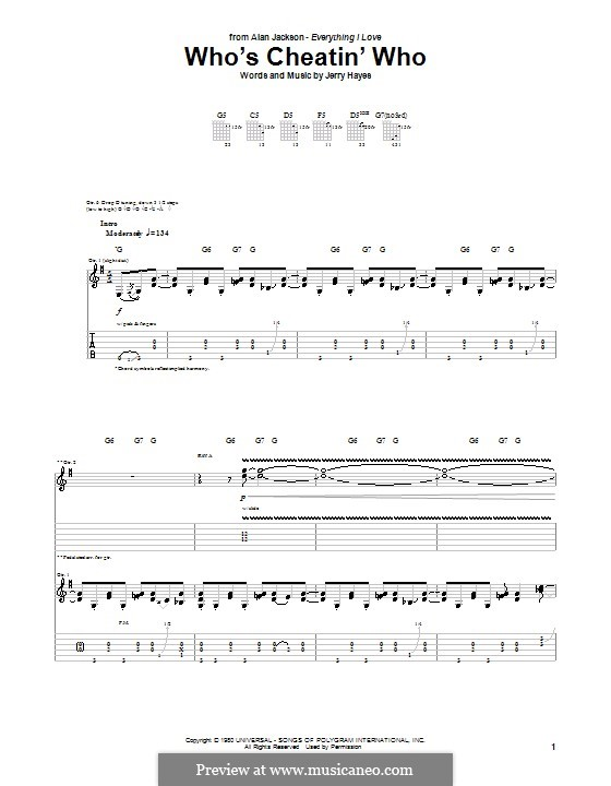 Who's Cheatin' Who: For guitar with tab by Jerry Hayes