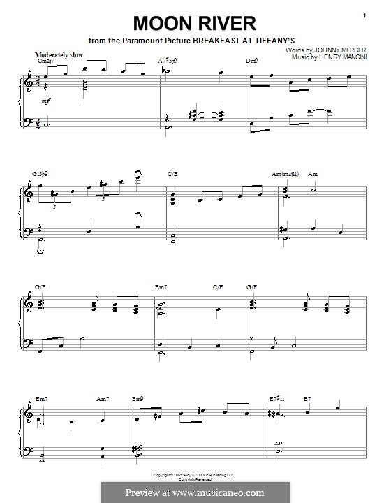 Piano version: For a single performer by Henry Mancini