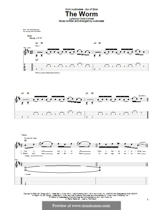 The Worm (Audioslave): For guitar with tab by Chris Cornell
