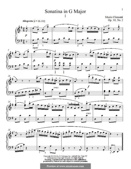 Sonatina No.2: For piano by Muzio Clementi