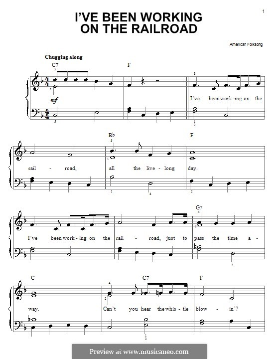 I've Been Working on the Railroad: For easy piano by folklore