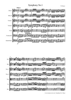 Symphony No.1: For string orchestra by William Boyce