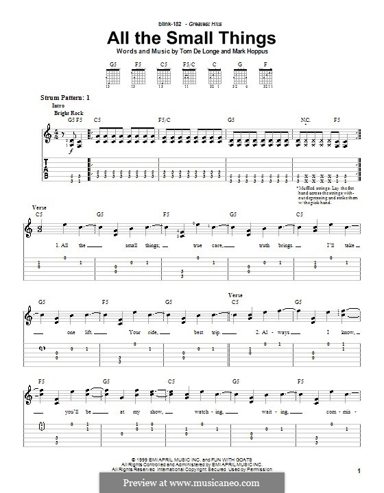 All the Small Things (Blink-182): For easy guitar by Mark Hoppus, Tom DeLonge