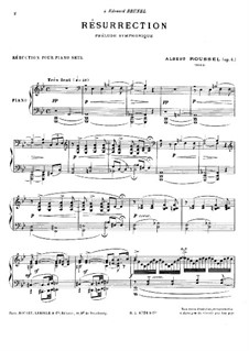 Résurrection. Symphonic Prelude, Op.4: Version for piano by Albert Roussel