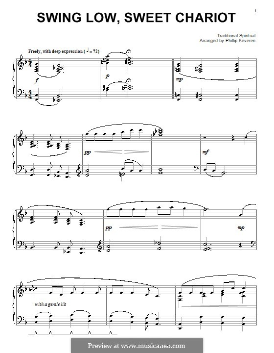 Swing Low Sweet Chariot By Folklore Sheet Music On Musicaneo