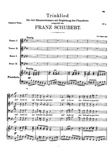 Trinklied (Drinking Song), D.267: Trinklied (Drinking Song) by Franz Schubert