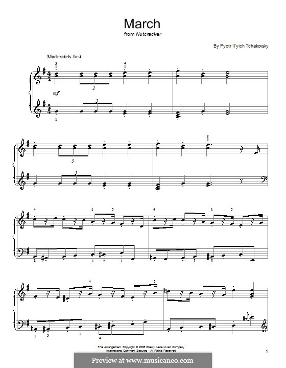 No.2 March: For easy piano by Pyotr Tchaikovsky