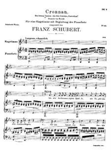 Cronnan, D.282: C minor by Franz Schubert