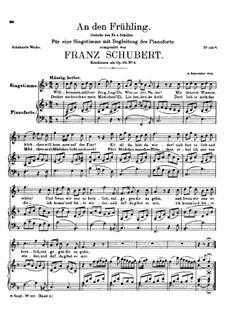 An den Frühling (To Spring), D.283: An den Frühling (To Spring) by Franz Schubert