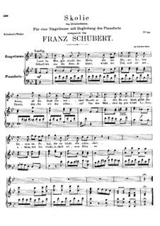 Skolie (Drinking Song), D.306: B flat Major by Franz Schubert