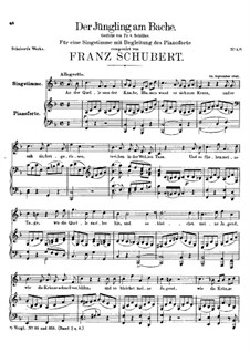 Der Jüngling am Bache (The Youth by the Brook), D.30: For voice and piano (F Major) by Franz Schubert