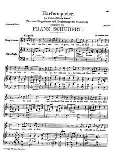 Harfenspieler (The Harper's Song), D.325: Harfenspieler (The Harper's Song) by Franz Schubert