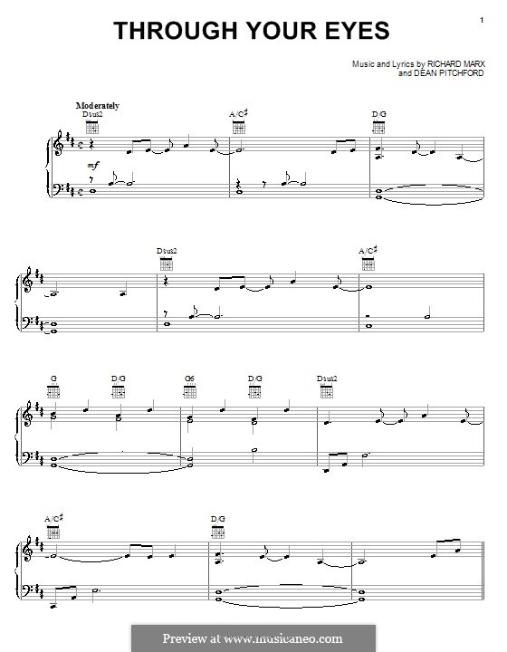 Through Your Eyes (from Bambi II): For voice and piano (or guitar) by Richard Marx