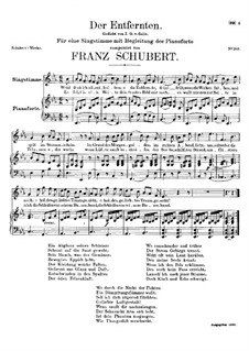 Der Entfernten (To the Distant Beloved), D.350: E flat Major by Franz Schubert