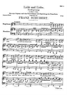 Licht und Liebe (Light and Love), D.352: G Major by Franz Schubert