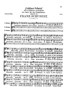 Goldner Schein (Golden Shine), D.357: Goldner Schein (Golden Shine) by Franz Schubert