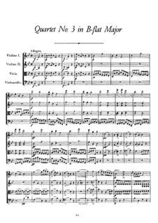 String Quartet No.3 in B Flat Major, D.36: String Quartet No.3 in B Flat Major by Franz Schubert