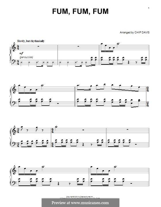 Fum, Fum, Fum: For piano by folklore